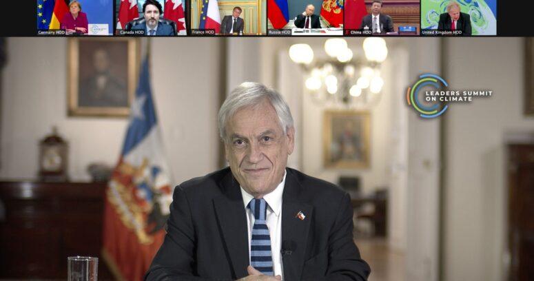 """Piñera en la Cumbre de Líderes por el Cambio Climático: """"Chile está dispuesto a hacer su parte"""""""