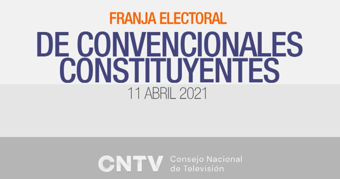 La franja electoral se emitió entre el 12 de marzo y el 6 de abril.