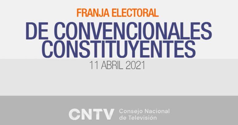CNTV: 68% vio la franja electoral de los candidatos constituyentes