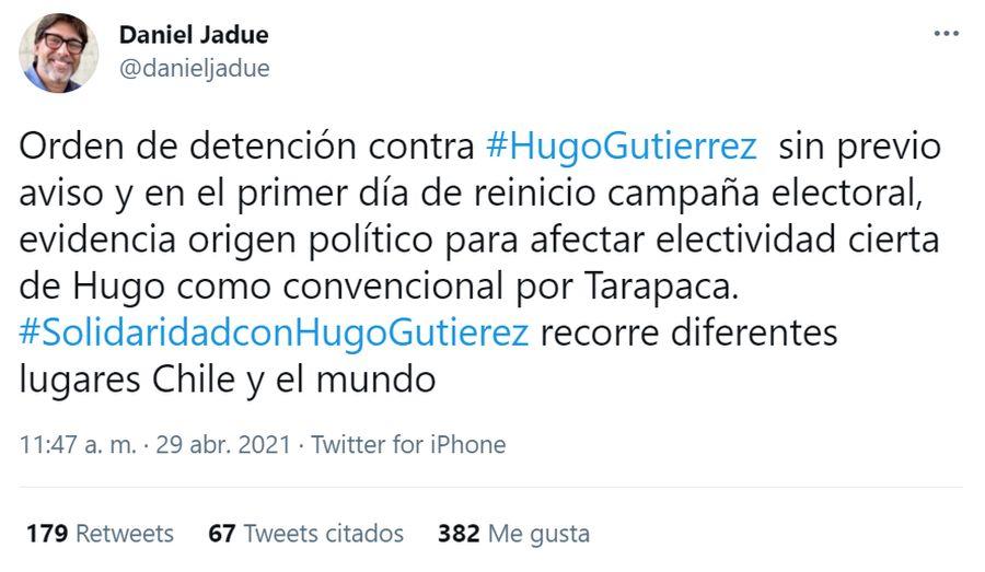 Daniel Jadue Hugo Gutiérrez