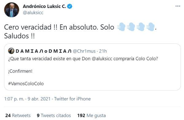 Luksic Colo Colo