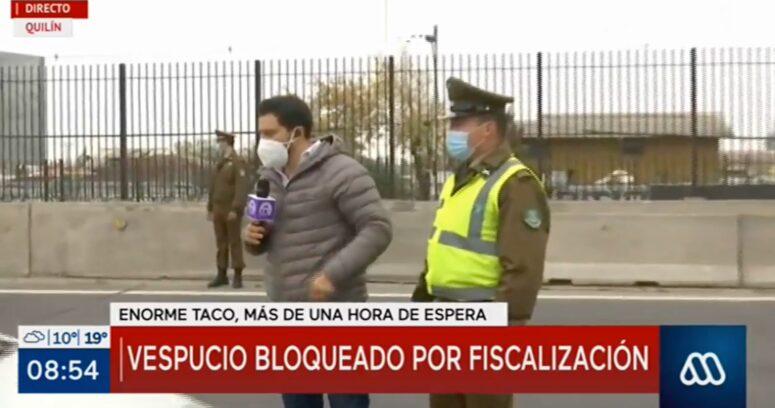 VIDEO – Periodista del Mucho Gusto tuvo discusión en vivo con Carabineros durante despacho