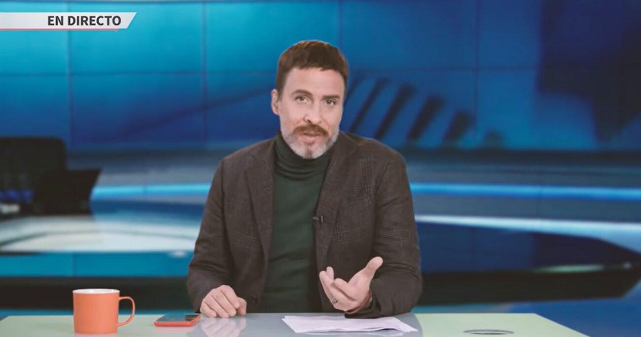 Kramer imitando al periodista de Mega. CAPTURA DE PANTALLA