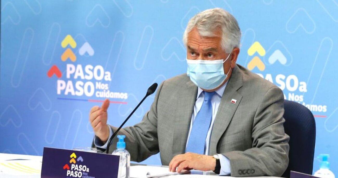 El secretario de Estado durante el balance diario de la pandemia. MINSAL