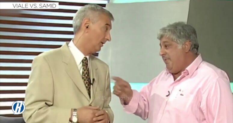 La histórica pelea en vivo entre Mauro Viale y Alberto Samid