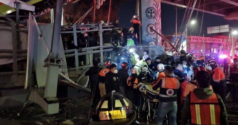El momento exacto en que se desploma vagón del Metro en Ciudad de México