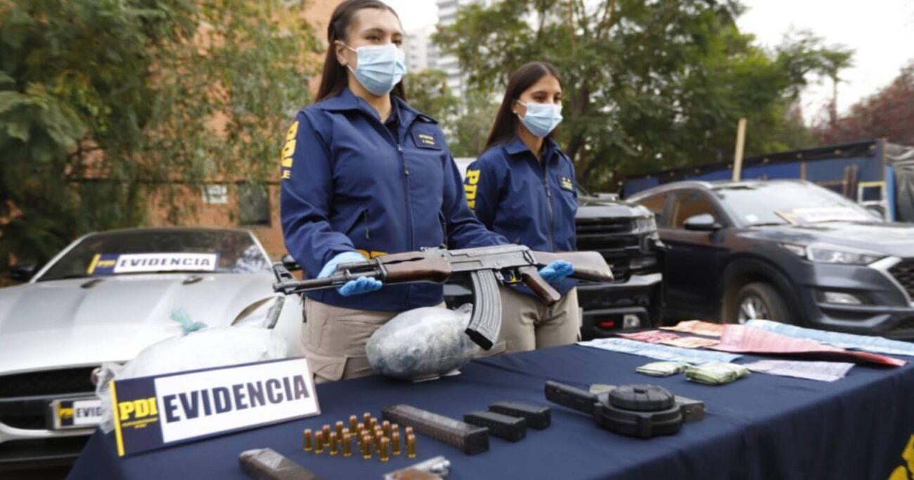 En el procedimiento se logró detener a una banda dedicada al tráfico ilícito de drogas en la ciudad de Ovalle. PDI
