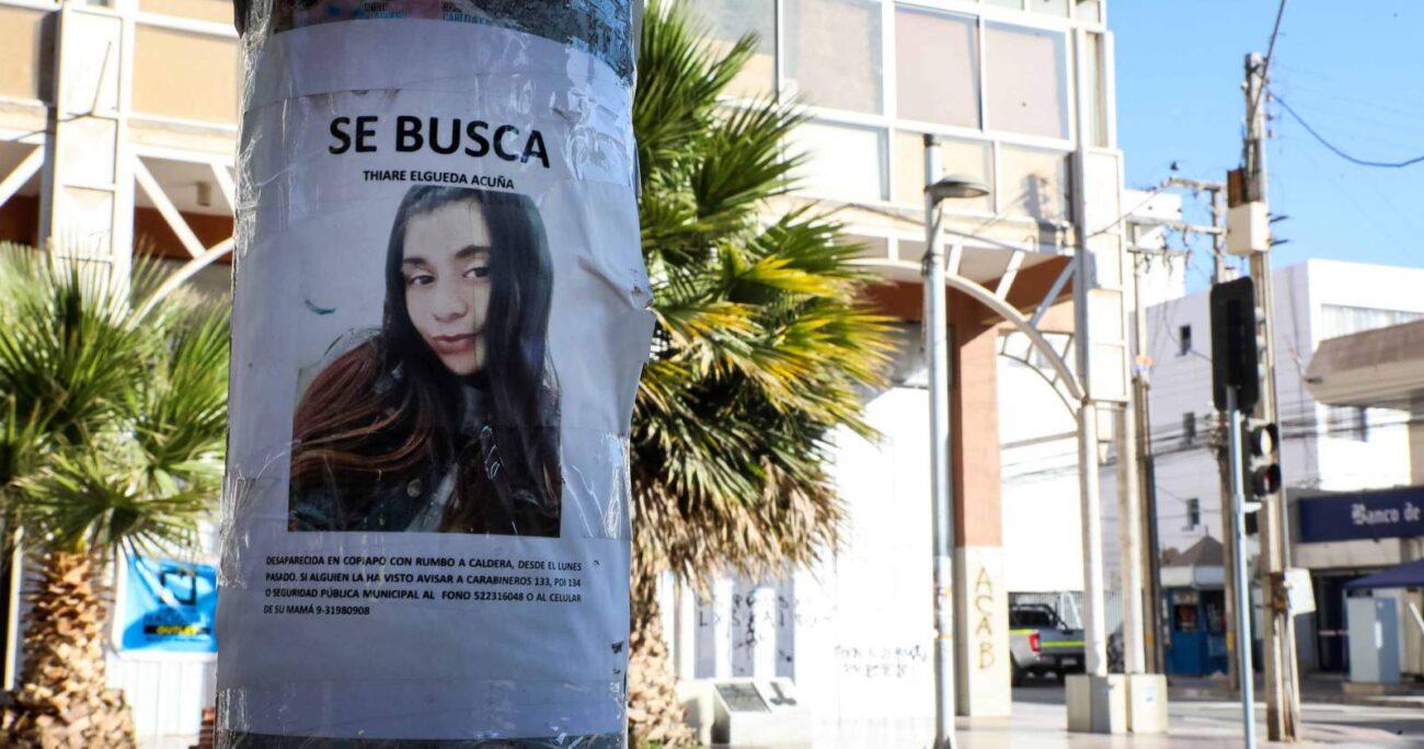 Thiare Elgueda desapareció el 2 de noviembre de 2020 cuando viajaría a Chañaral a entregarle un televisor a una amiga. AGENCIA UNO/ARCHIVO