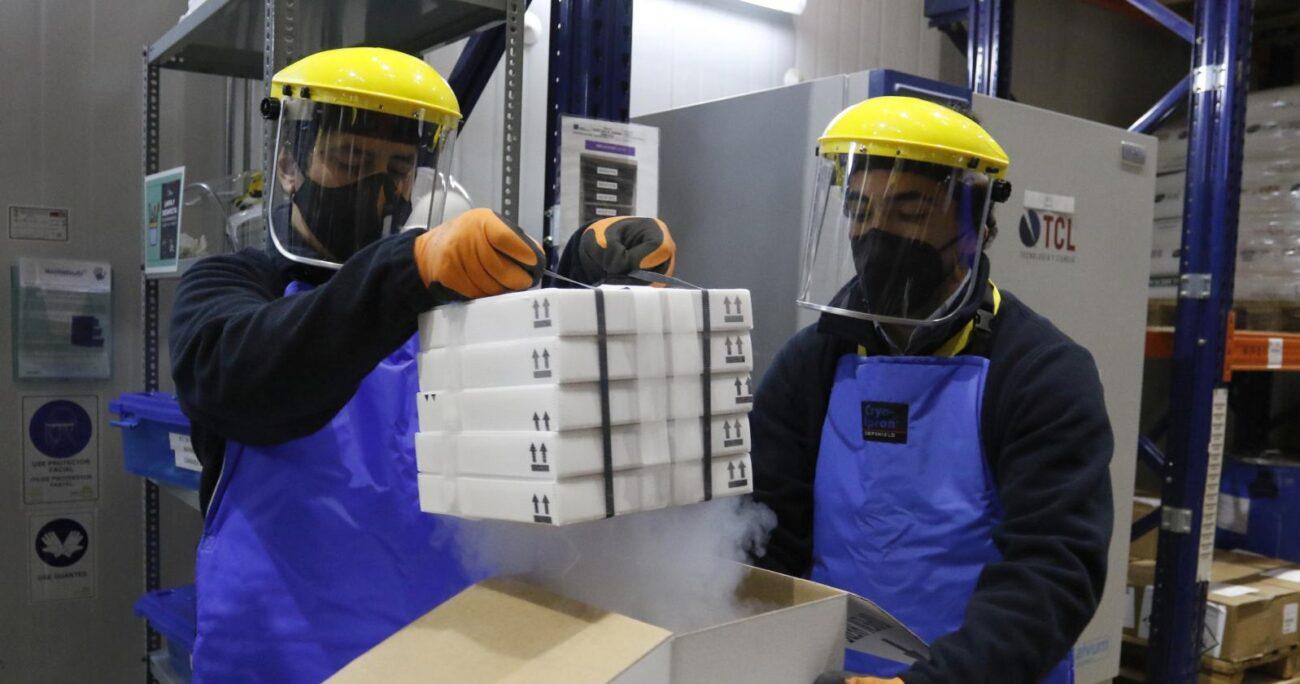 Uno de los cargamentos de la vacuna de la farmacéutica estadounidense. AGENCIA UNO/ARCHIVO