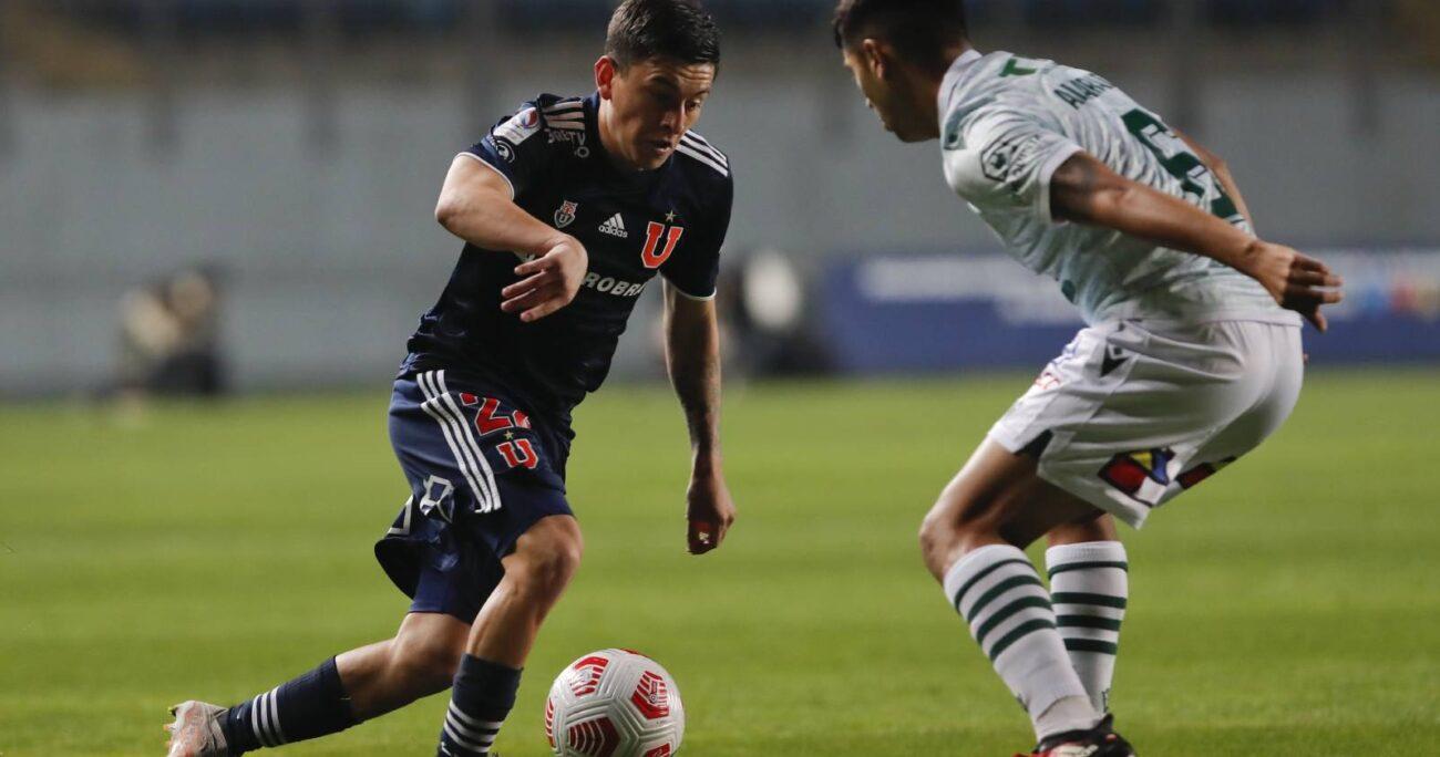 Pablo Aránguiz durante el partido válido por la sexta fecha del Campeonato Nacional AFP PlanVital 2021, entre Universidad de Chile y Santiago Wanderers. AGENCIA UNO/ARCHIVO