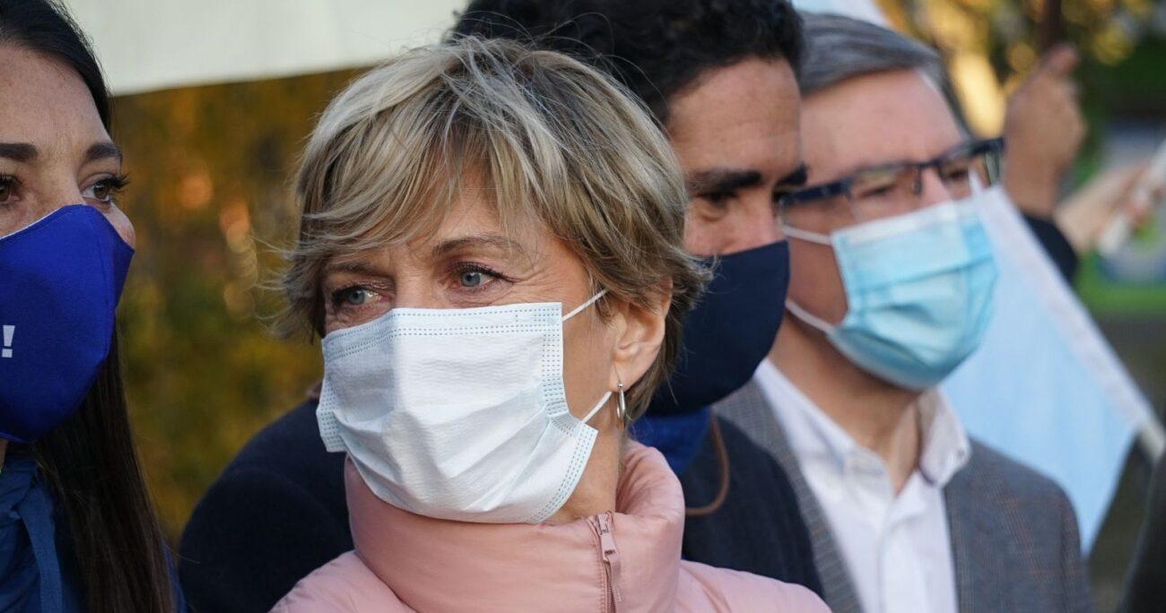 Evelyn Matthei se bajó de la primaria oficialista antes de la decisión del Consejo General de la UDI. AGENCIA UNO/ARCHIVO