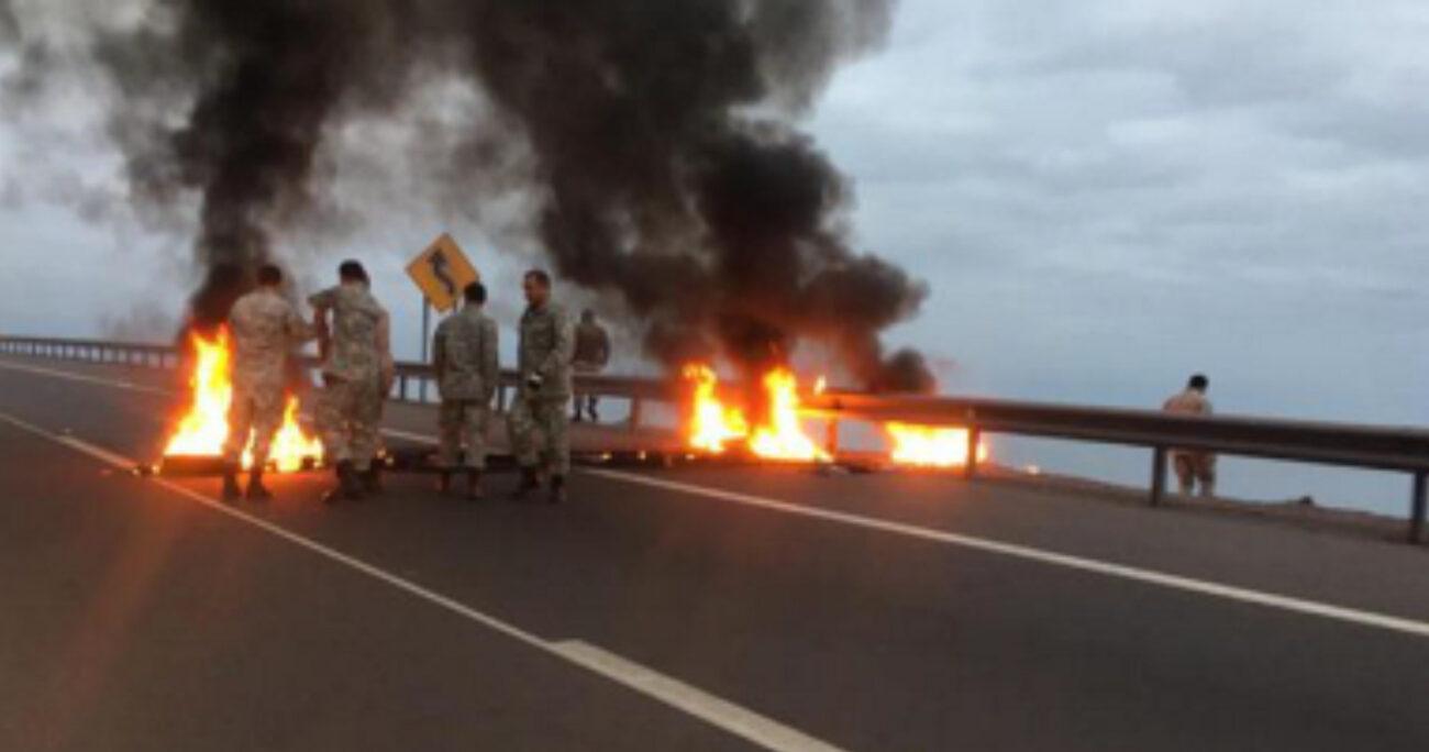 Producto de la combustión de los neumáticos, la ruta A-1 resultó con daños en la carpeta asfáltica avaluados por el tribunal en la suma de $1.500.000.