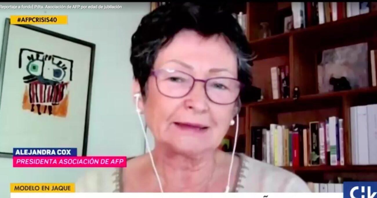Alejandra Cox afirmó que los chilenos deben potenciarse como activos mientras tengan buena salud. CHILEVISION