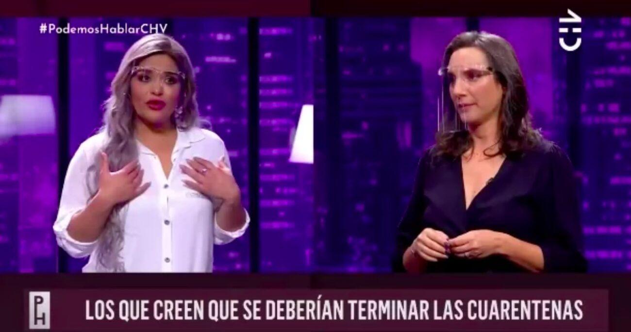La cantante y la actriz compartieron en el programa Podemos Hablar de Chilevisión.