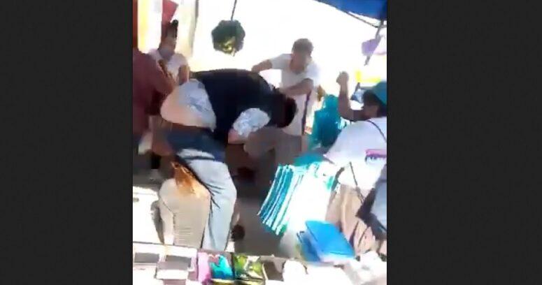 VIDEO – Candidato a concejal RN es atacado en feria libre de Maipú