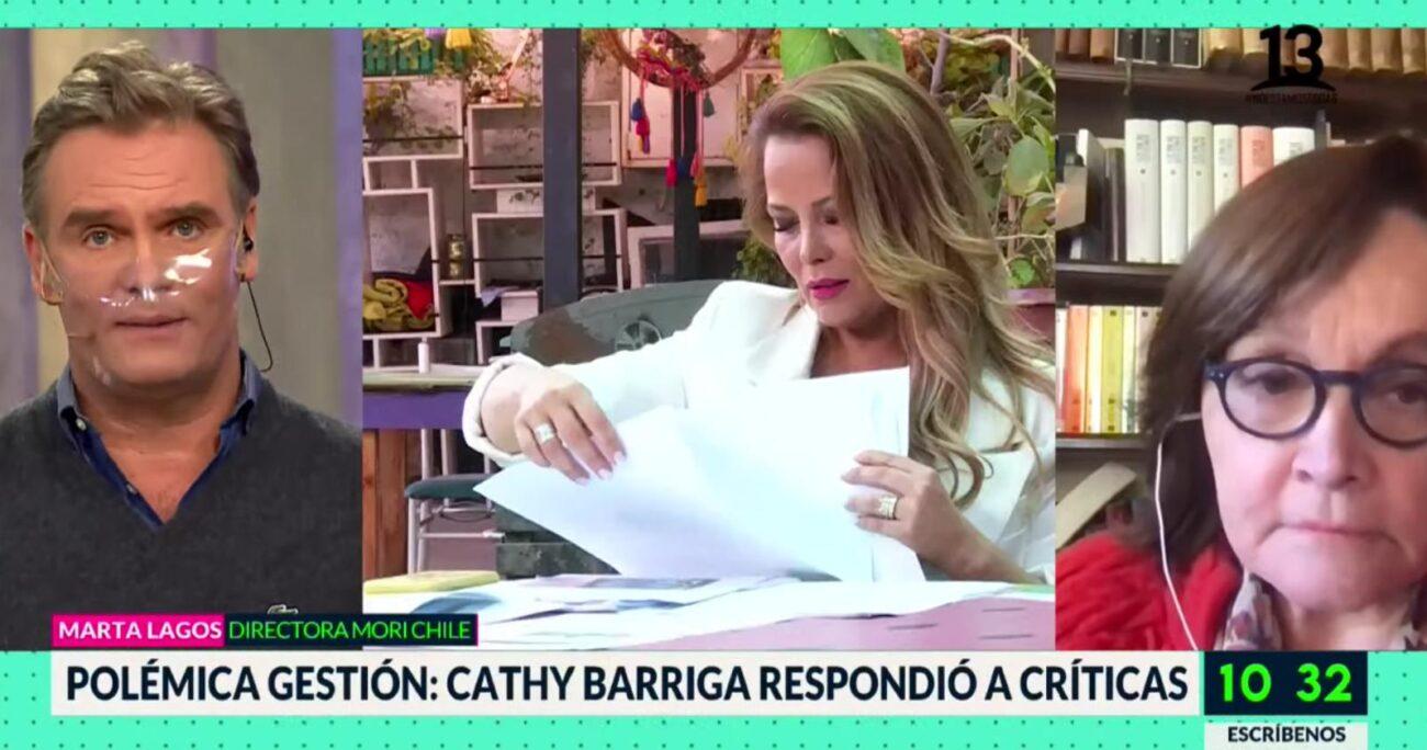 Barriga habló en exclusiva con el matinal de Canal 13 sobre el reportaje del Mucho Gusto.