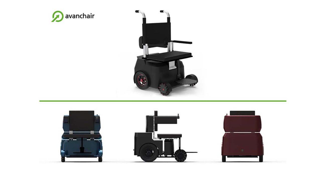 La Avanchair simplifica al usuario la acción de moverse desde la silla de ruedas a otras plataformas, además cuenta con monitorización de salud a través del Internet of Things (IoT) y se puede cargar en las infraestructuras de recarga de vehículos eléctricos.