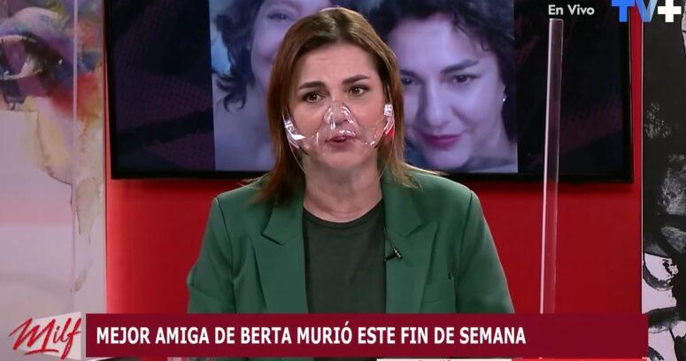Berta Lasala se quiebra en TV por muerte de amiga