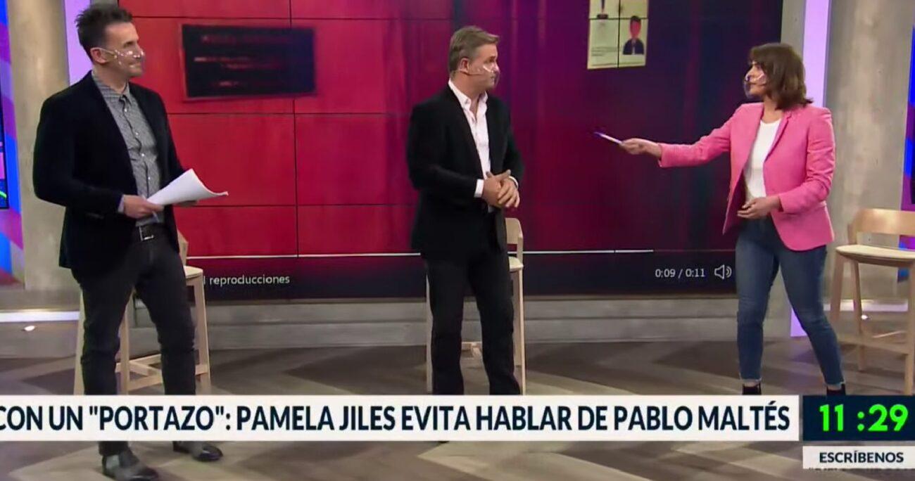 La diputada no quiso referirse al resultado que obtuvo su pareja, Pablo Maltés, en las elecciones de este domingo.
