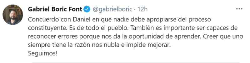 Boric Jadue plebiscito