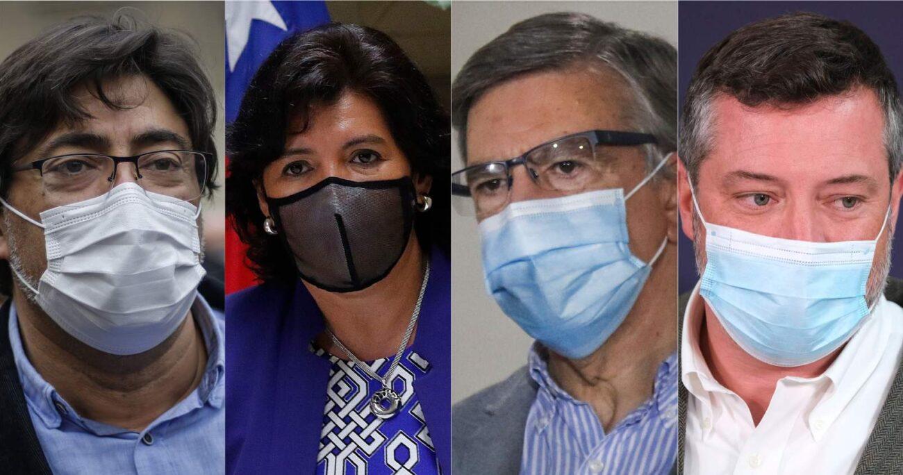 De estas figuras políticas, Provoste es la única que no está en la carrera presidencial. AGENCIA UNO