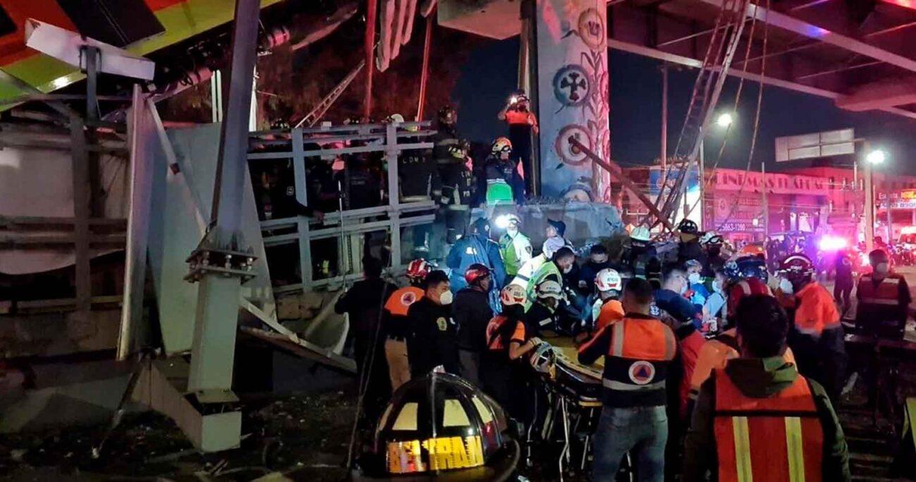 La Línea 12 del Metro de Ciudad de México colapsó en la estación Olivos. EUROPA PRESS/AGENCIA UNO