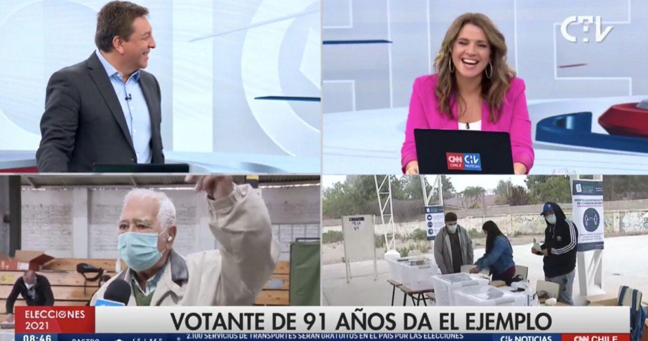 La transmisión especial contó con la participación de diversos rostros del canal.