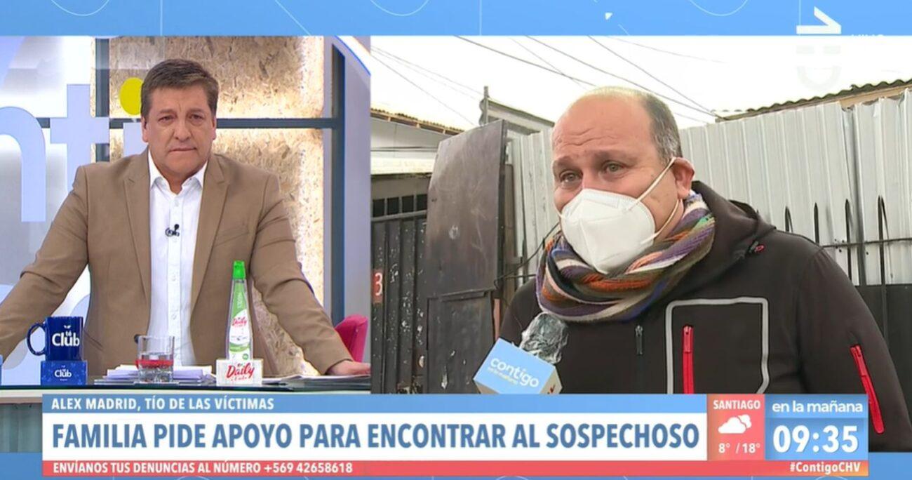 El conductor escuchando las palabras del tío de las víctimas. CAPTURA DE PANTALLA/CHV