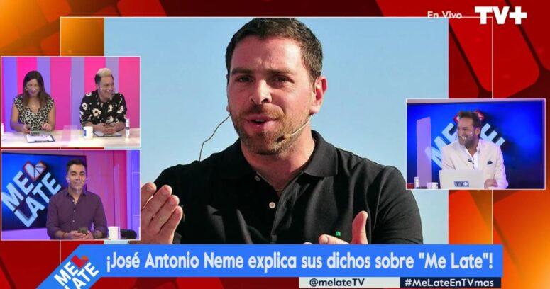 """""""José Antonio Neme aclaró sus dichos sobre Me Late:"""