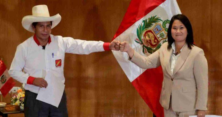 """""""Elecciones presidenciales en Perú: Keiko Fujimori lidera recuento preliminar frente a Pedro Castillo"""""""