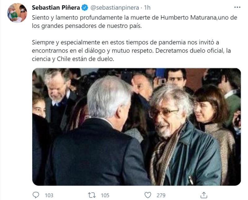 Piñera Humberto Maturana
