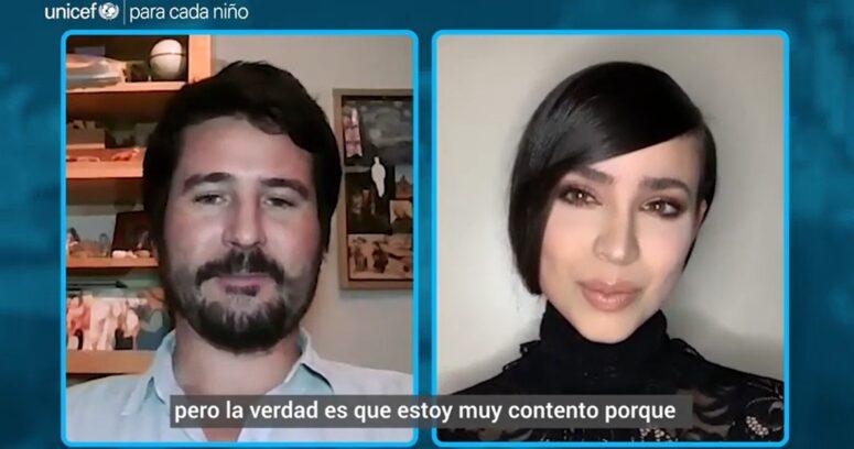 VIDEO – Sofia Carson conversó con profesor chileno por la vacunación contra el COVID-19