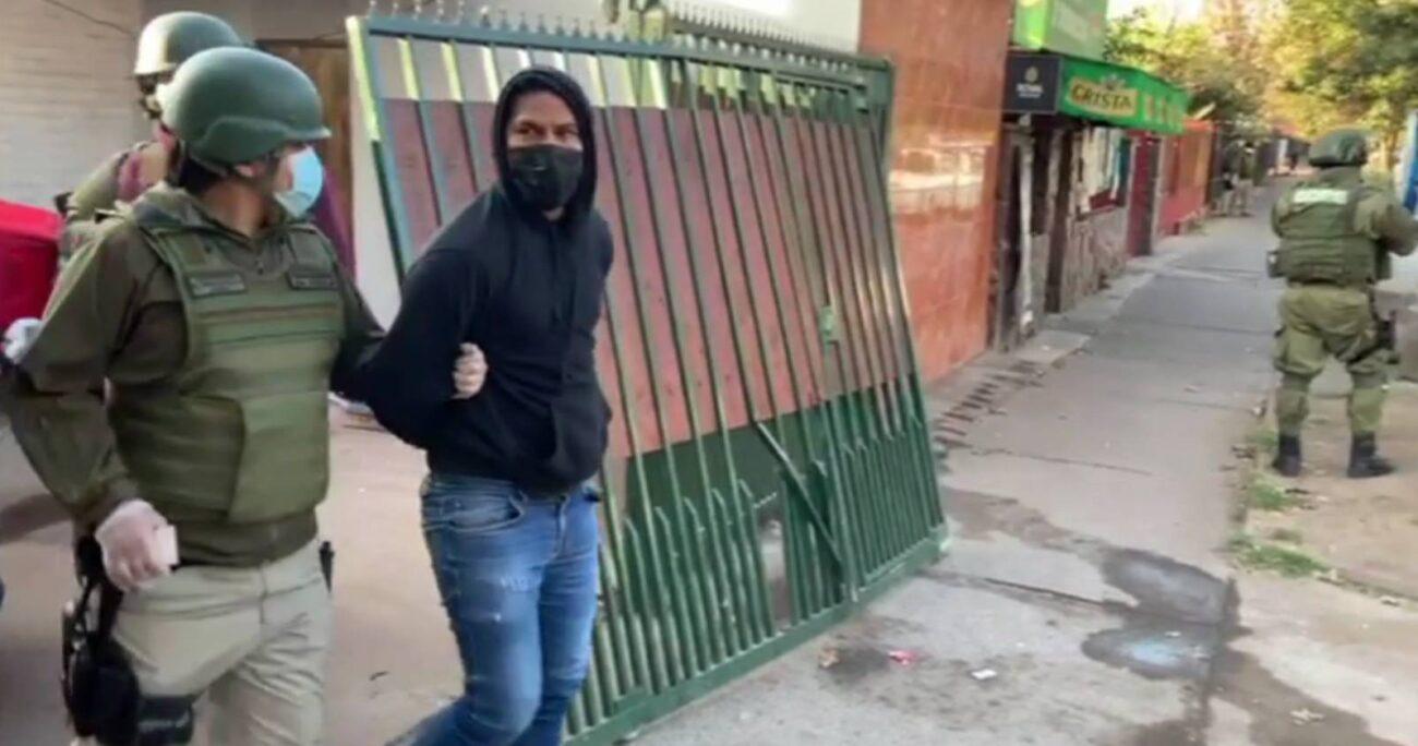Joseph Martínez Ramírez fue detenido tras el allanamiento a su domicilio en Huechuraba.