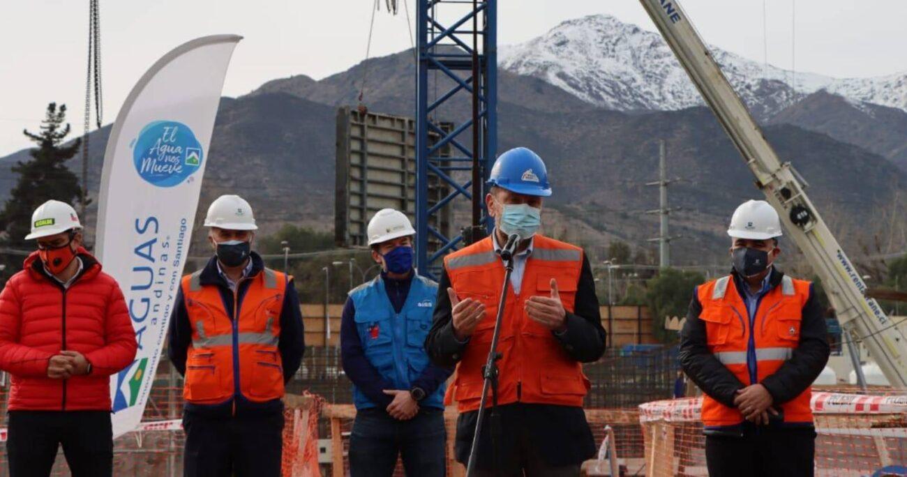 Las nuevas instalaciones llevan un 45% de avance. AGUAS ANDINAS