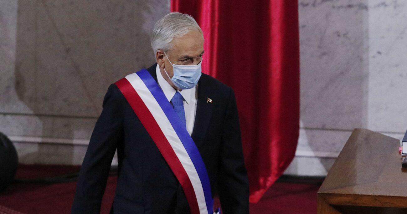 El mandatario antes de dar su discurso en el Congreso Nacional. AGENCIA UNO