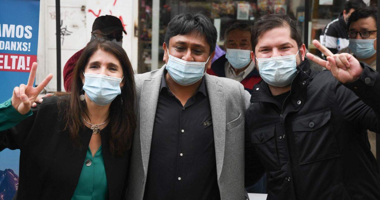 Narváez junto con Boric en la actividad con el candidato. AGENCIA UNO