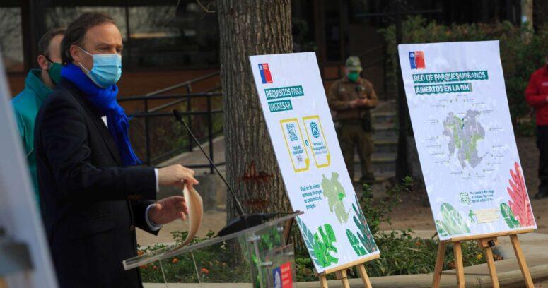 """""""Minvu anunció apertura de la red de parque urbanos con aforo reducido"""""""