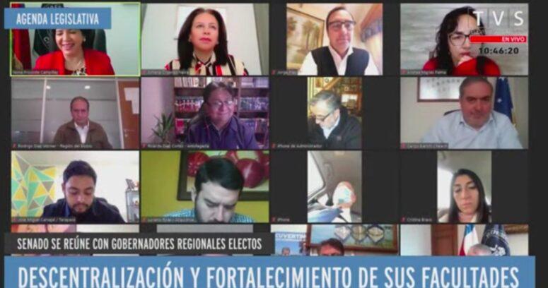"""""""Yasna Provoste encabeza reunión con gobernadores electos para fijar agenda legislativa"""""""