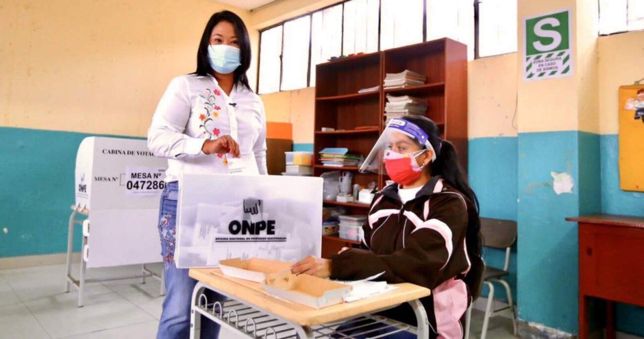 Según losresultados oficiales, Castillo aventaja con el 50,20% de los votos sobre 49,79% de Fujimori. TWITTER/KEIKOFUJIMORI