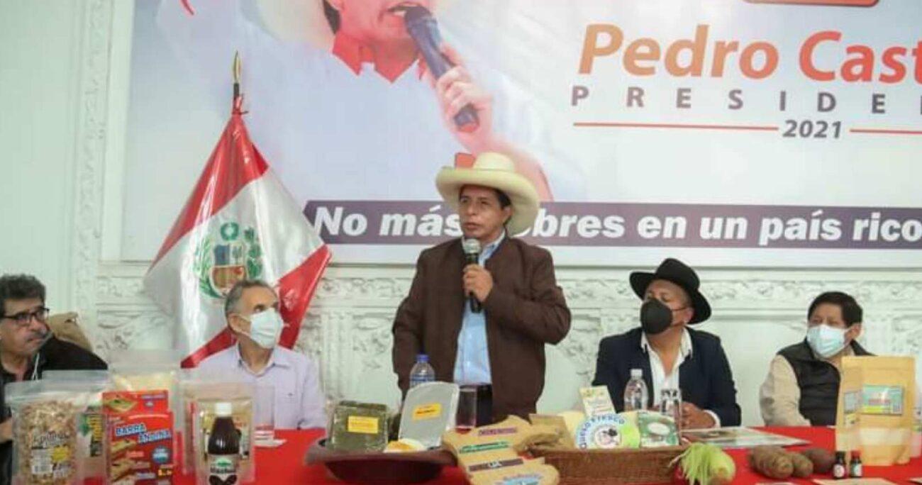 Pedro Castillo obtuvo el 50,12% de los votos, sobre el 49,87% de Keiko Fujimori. TWITTER/PEDROCASTILLO