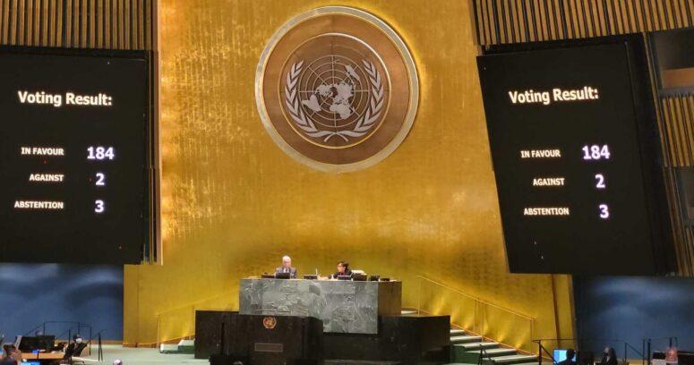 ONU aprueba resolución que pide el fin del embargo estadounidense a Cuba
