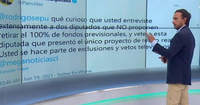"""""""¿Veto? Por favor, olvídelo"""": Rodrigo Sepúlveda responde al aire a diputada Jiles"""