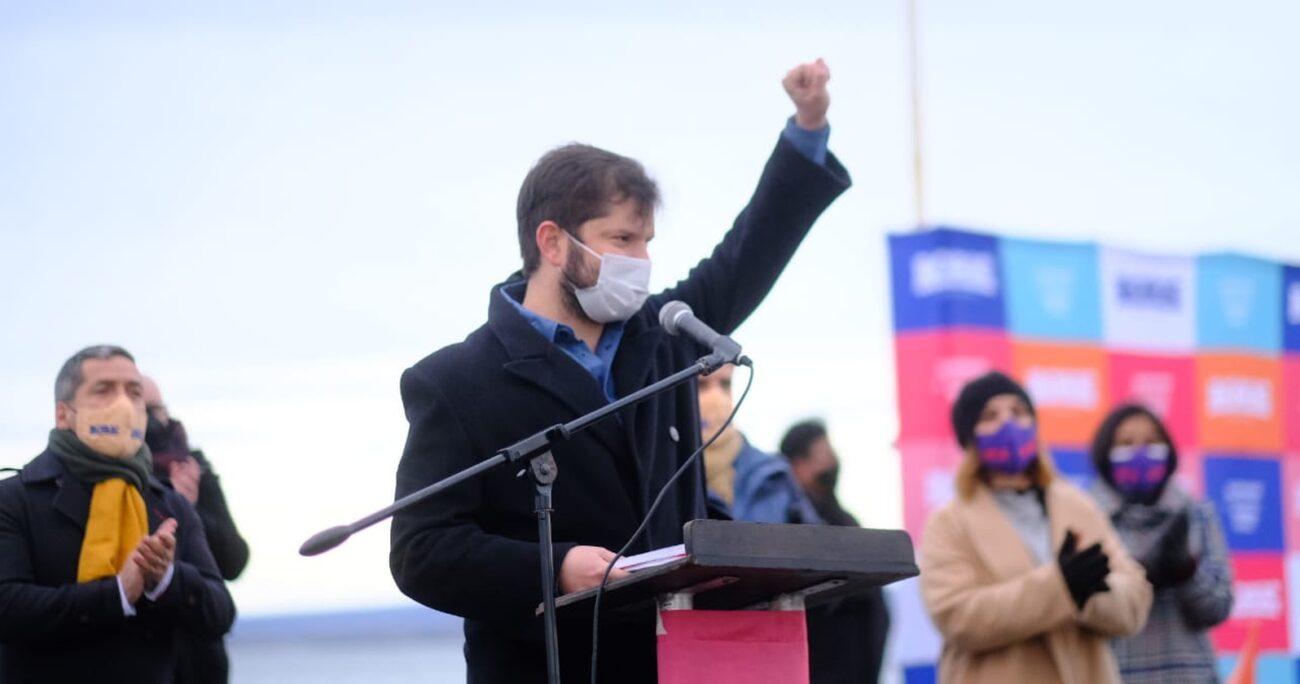 El candidato presidencial durante el inicio de su campaña en Magallanes. FERNANDO RAMÍREZ