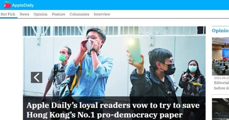 Diario Apple Daily confirma su cierre definitivo por las presiones de China