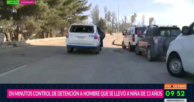 FOTOS – Periodista de Bienvenidos terminó colgando de auto de la PDI