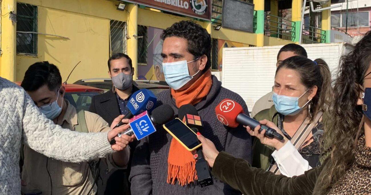 Briones estuvo en la caleta El Membrillo de Valparaíso. TWITTER
