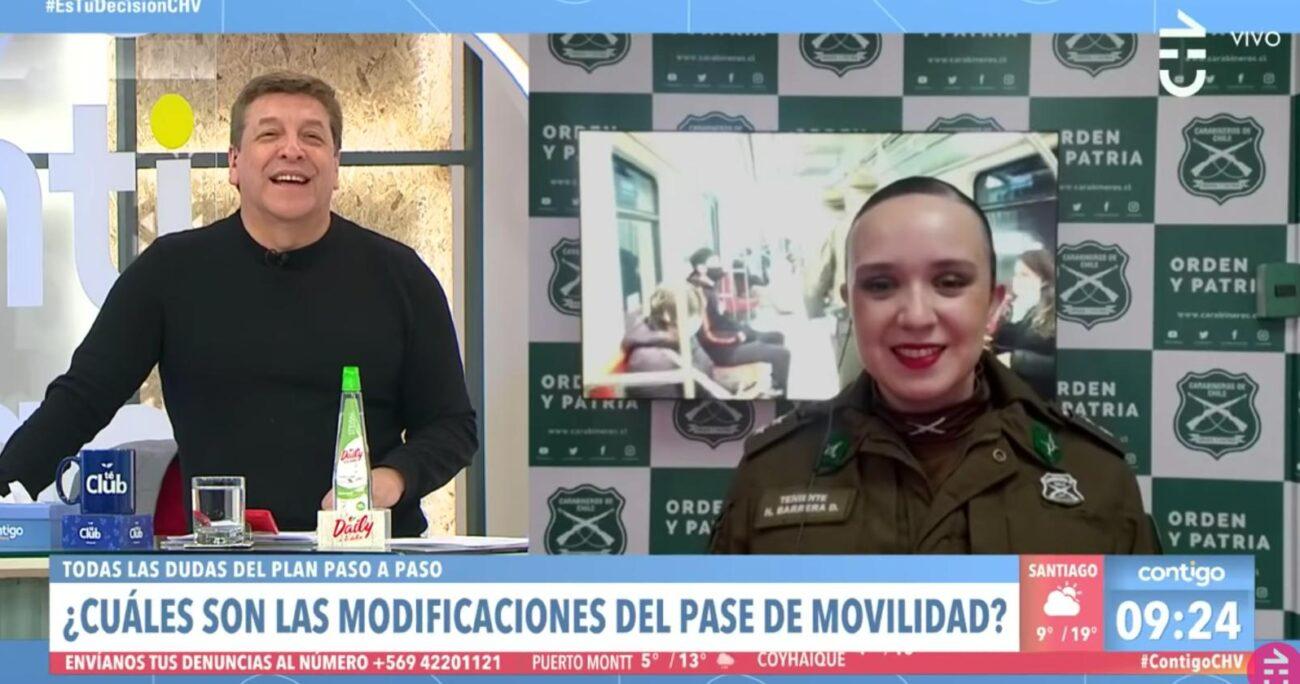 La situación provocó risas en el panel del matinal de Chilevisión.