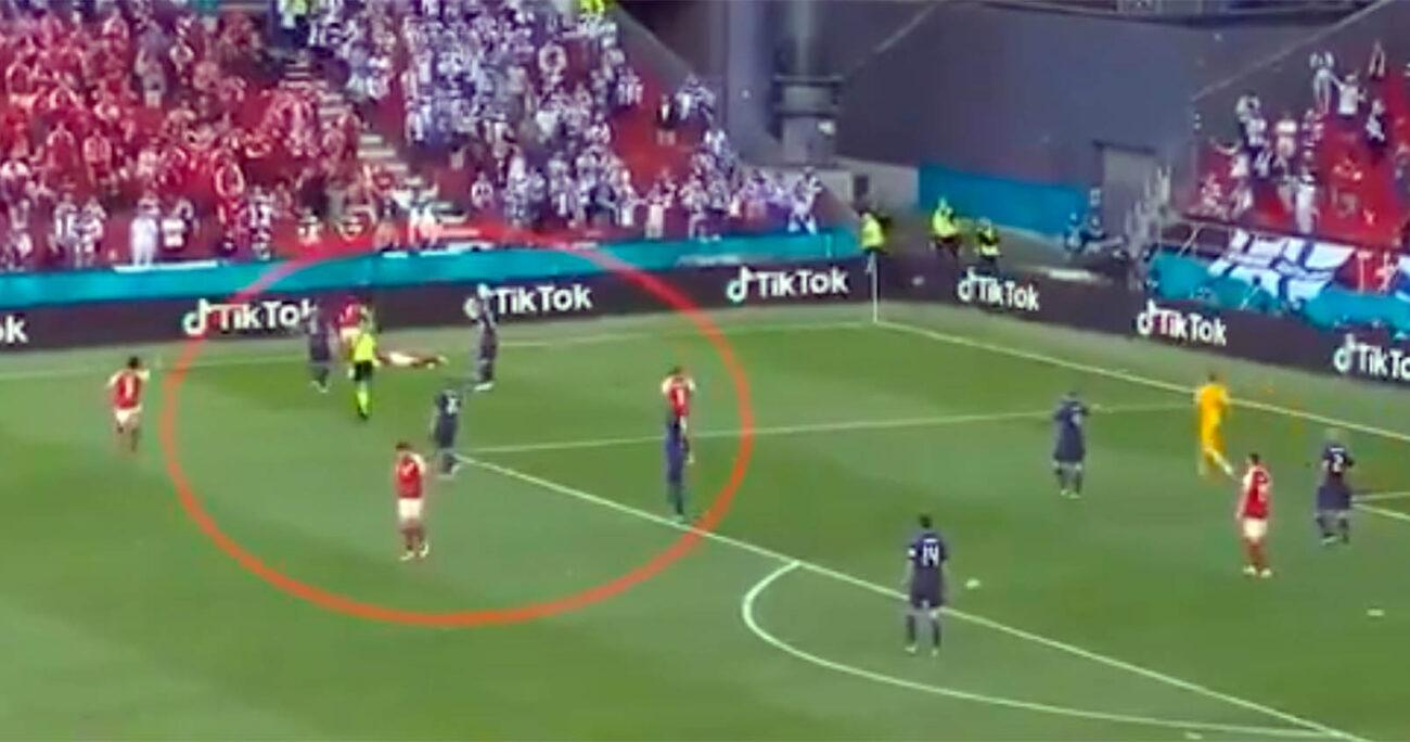 Se disputaba el minuto 43 del partido entre Dinamaca ante Finlandia cuando el jugador se desplomó sobre el césped del Parken Stadion y entró en paro cardiorespiratorio.
