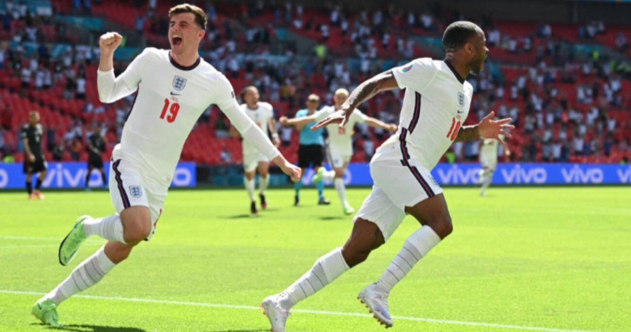 El gol de Raheem Sterling quedará en la historia del futbol inglés, ya que fue el que les permitió obtener su primer triunfo en el debut de una Eurocopa. TWITTER