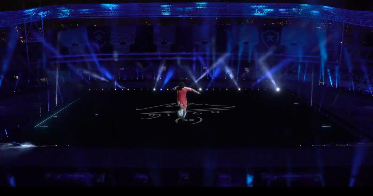 El espectáculo en la cancha del Estadio Olímpico Nilton Santos de Río de Janeiro. CAPTURA DE PANTALLA